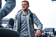 Leeds United defender Liam Cooper (6) arrives at the ground during the EFL Sky Bet Championship match between Leeds United and Queens Park Rangers at Elland Road, Leeds, England on 2 November 2019.