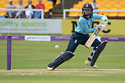 Fran Wilson batting during the Royal London Women's One Day International match between England Women Cricket and Australia at the Fischer County Ground, Grace Road, Leicester, United Kingdom on 2 July 2019.