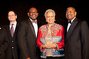 "Hilda Richards accepting the Ohio university Diversity and Inclusion Medal of Excellence at ""Celebrating Black Heritage at Ohio University Through the Decades"" at the Black Alumni Reunion Gala in Baker Center on September 28, 2013."""