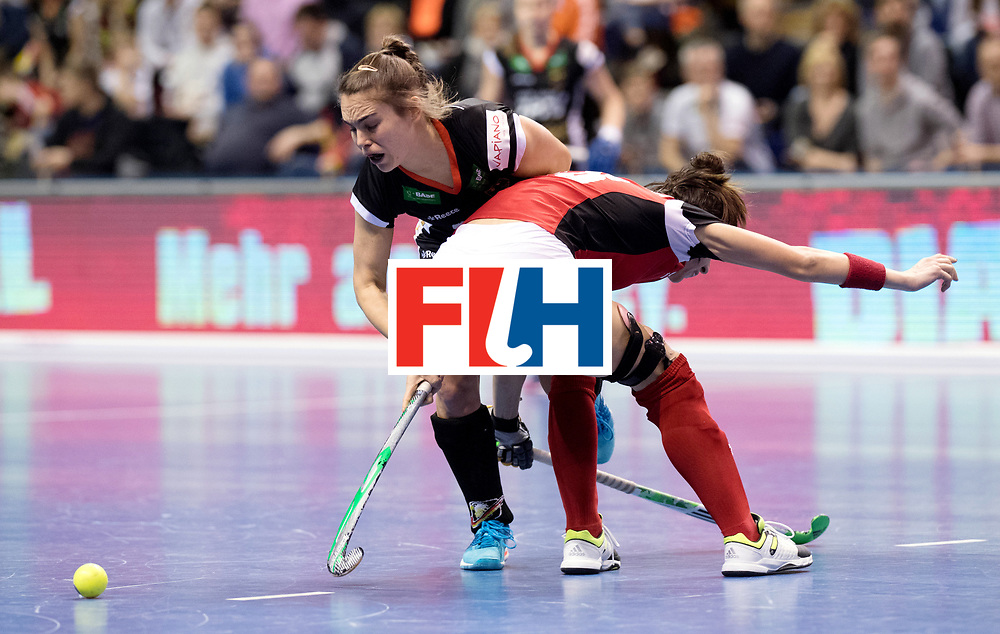 BERLIN - Indoor Hockey World Cup<br /> Quarterfinal 3: Germany - Poland<br /> foto: Lisa Altenburg.<br /> WORLDSPORTPICS COPYRIGHT FRANK UIJLENBROEK
