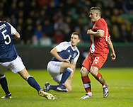 Canada&rsquo;s Fraser Aird scores the opening goal - Scotland v Canada, friendly international at EasterRoad, Edinburgh.Photo: David Young<br /> <br />  - &copy; David Young - www.davidyoungphoto.co.uk - email: davidyoungphoto@gmail.com