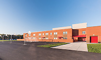 Exterior image of Madison's Trust  Elementary School in Brambelton Virginia by Jeffrey Sauers of Commercial Photographics, Architectural Photo Artistry in Washington DC, Virginia to Florida and PA to New England