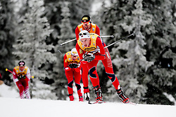 25.11.2012, Langlaufstrecke, Lillehammer, NOR, FIS Nordische Kombination Weltcup, Penalty Race, im Bild Johansen Truls Soenstehagen (NOR) and Magnus Moan (NOR). during Penalty Race of FIS Nordic Combined Worldcup at the Cross Country Course, Lillehammer, Norway on 2012/11/25. EXPA Pictures © 2012, PhotoCredit: EXPA/ Federico Modica