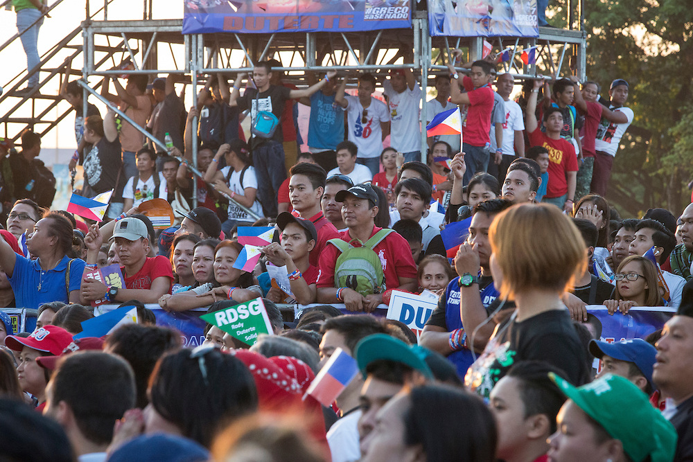 MANILA, PHILIPPINES - MAY 7: Mayor Rodrigo &quot;Digong&quot; Duterte held his meeting de advance in Luneta Grand Stand, Manila, Philippines on Saturday, May 7, 2016. Rodrigo &quot;Digong&quot; Duterte runs for president in the 2016 Philippine national election that  will be held on May 9, 2016.<br /> <br /> Photo by Richard A. de Guzman