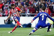 Atletico Madrid's Spanish forward Diego Costa scores during the Spanish championship Liga football match between Atletico Madrid and Athletic Bilbao on february 18, 2018 at the Metropolitano stadium in Madrid, Spain - Photo Benjamin Cremel / ProSportsImages / DPPI