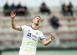 Blaž Vrhovec of Maribor reacts during Football match between NK Triglav and NK Maribor in 25th Round of Prva liga Telekom Slovenije 2018/19, on April 6, 2019, in Sports centre Kranj, Slovenia. Photo by Vid Ponikvar / Sportida