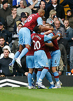 Photo: Steve Bond/Sportsbeat Images.<br /> Birmingham City v Aston Villa. The FA Barclays Premiership. 11/11/2007. Zat knight (L) joins in the celebrations