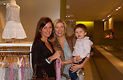 Davina McCall, Lucy Sykes. and Lucy's son Heathcliff  Rellie.  Launch of 'Lucy  Sykes Baby, New York' Selfridges. 14 April 2005. ONE TIME USE ONLY - DO NOT ARCHIVE  © Copyright Photograph by Dafydd Jones 66 Stockwell Park Rd. London SW9 0DA Tel 020 7733 0108 www.dafjones.com