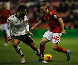 Ryan Fredericks of Fulham (L) and Ben Osborn of Nottingham Forest in action - Mandatory byline: Jack Phillips / JMP - 07966386802 - 5/12/2015 - FOOTBALL - The City Ground - Nottingham, Nottinghamshire - Nottingham Forest v Fulham - Sky Bet Championship