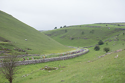 The peloton rides through the dales of the Peak District during the Aviva Women's Tour 2016 - Stage 3. A 109.6 km road race from Ashbourne to Chesterfield, UK on June 17th 2016.
