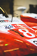 June 12-17, 2018: 24 hours of Le Mans. 8 Toyota Racing, Toyota TS050 Hybrid, Sebastien Buemi, Kazuki Nakajima, Fernando Alonso post race with dirt
