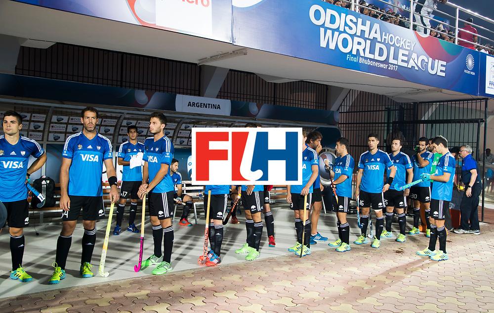 BHUBANESWAR -  Hockey World League finals ,  . Argentina v Spain . Team Argentina. . COPYRIGHT KOEN SUYK