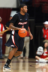 Nov 28, 2011; Stanford CA, USA;  Pacific Tigers guard Colin Beatty (2) dribbles the ball against the Stanford Cardinal during the second half at Maples Pavilion. Stanford defeated Pacific 79-37. Mandatory Credit: Jason O. Watson-US PRESSWIRE