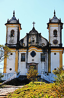 viewof the church sao francisco de paula of the unesco world heritage city of ouro preto in minas gerais brazil