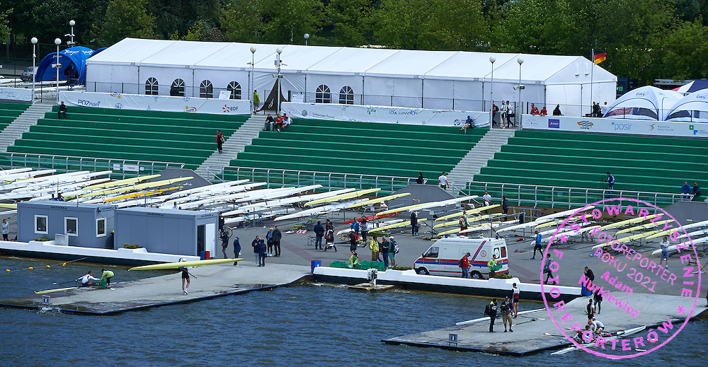 General view during second day the 2015 European Rowing Championships on Malta Lake on May 30, 2015 in Poznan, Poland<br /> Poland, Poznan, May 30, 2015<br /> <br /> Picture also available in RAW (NEF) or TIFF format on special request.<br /> <br /> For editorial use only. Any commercial or promotional use requires permission.<br /> <br /> Mandatory credit:<br /> Photo by &copy; Adam Nurkiewicz / Mediasport