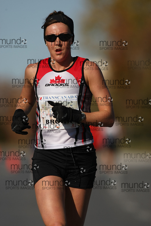 (Ottawa, ON---18 October 2008) MEGAN BROWN competes in the 2008 TransCanada 10km Canadian Road Race Championships. Photograph copyright Sean Burges/Mundo Sport Images (www.msievents.com).