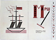 Illustration by Lazar Lissitzky for the poem 'The March of the Left'  by the Vladimir Mayakovsky, 1923. Russia USSR  Communism Communist Geometric Abstract