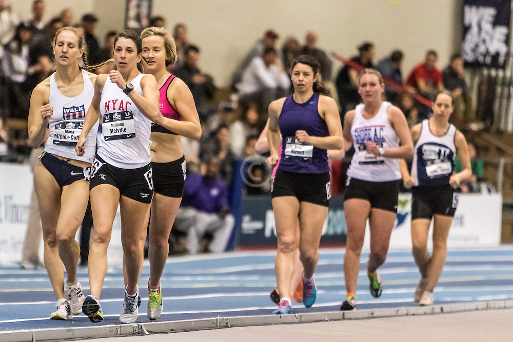 USATF Indoor Track & Field Championships: womens two mile race walk, Miranda Melville, NYAC
