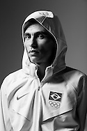 Sao Paulo, Brazil, June 11 of 2012:  BRAZILIAN OLYMPIC ATHLETES: Brazilian marathon runner Marilson dos Santos during a photo shooting at a studio in Sao Paulo.  (photo: Caio Guatelli)