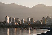 English Bay at sunrise, Vancouver