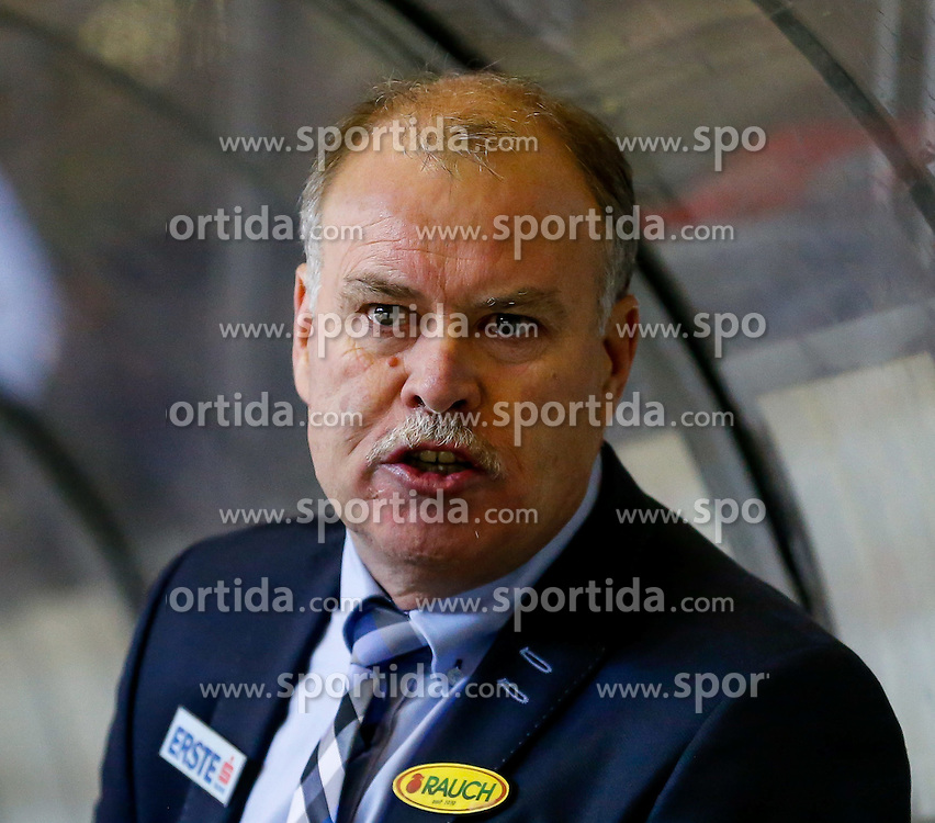 21.11.2014, Messestadion, Dornbirn, AUT, EBEL, Dornbirner EC vs EHC Liwest Black Wings Linz, 19. Runde, im Bild Dave MacQueen, (Dornbirner EC, Head Coach)// during the Erste Bank Icehockey League 19th round match between Dornbirner EC and EHC Liwest Black Wings Linz at the Messestadion in Dornbirn, Austria on 2014/11/21, EXPA Pictures © 2014, PhotoCredit: EXPA/ Peter Rinderer