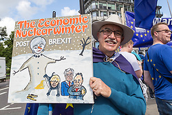 "London, September 09 2017. Thousands of protesters gather in London for a march from Hyde Park Corner to Parliament Square, with the organisers saying ""The British public is increasingly concerned about Brexit; poll after poll shows a bigger majority for staying in the EU"".  © Paul Davey"