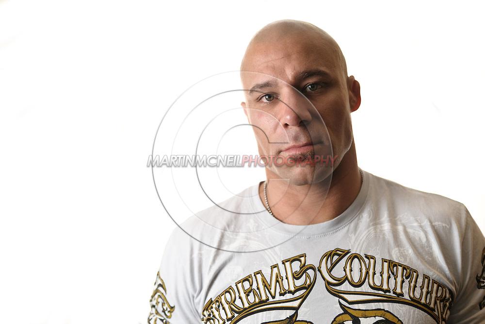 A portrait of mixed martial arts athlete
