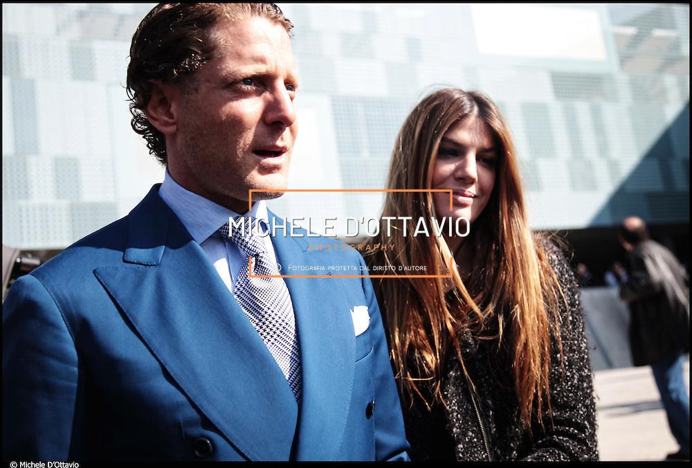 Nella foto Lapo Elkann e la cugina-fidanzata Bianca Brandolini d'Adda.....Torino 19 marzo 2011 in occasione della visita il presidente della Repubblica al rinnovato Museo dell'Automobile Lapo Elkann da vero padrone di casa, impeccabile a suo modo: camicia bianca, cravatta grigia e vestito blu elettrico.
