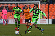 Forest Green Rovers Dayle Grubb(8) passes the ball during the EFL Sky Bet League 2 match between Barnet and Forest Green Rovers at The Hive Stadium, London, England on 7 April 2018. Picture by Shane Healey.