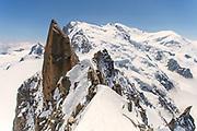Peter McConkie on Arête des Cosmiques, Chamonix, France