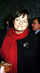 FIONA MACTAGGART MP at a reception in London on 17th November 1999.MZF 100