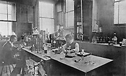 Laboratory at Thomas Firth & Son's Norfolk Works, Sheffield c1900