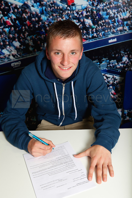 Manchester City Football club portraits of new signings with FA Cup