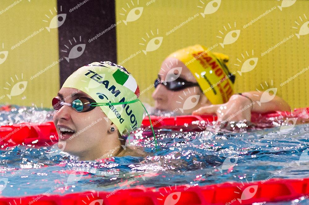 SCALIA Silvia - SMGM Team Nuoto Lombardia<br /> 100m dorso donne<br /> Campionati Italiani Assoluti Nuoto Invernali Open Fin<br /> Riccione Italy 19/12/2015<br /> Photo Giorgio Perottino/Deepbluemedia/Insidefoto