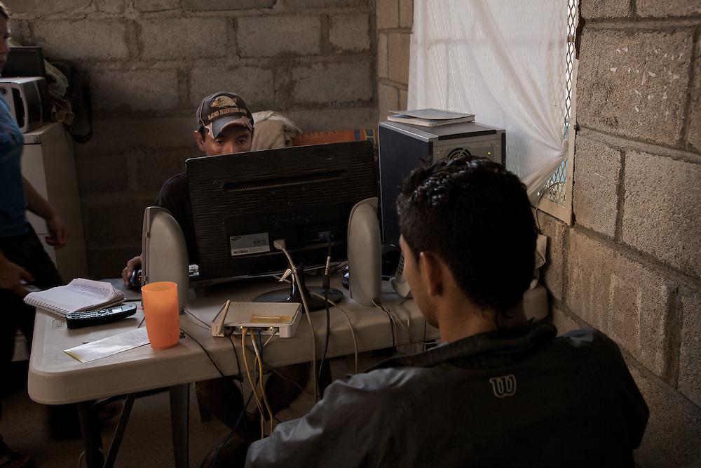 "Arrival and registration at the shelter ""Hermanos en el Camino"". Ixtepec-Oxaca-Mexico,2011"