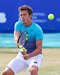 LIVERPOOL, ENGLAND - Saturday, June 23, 2018: Alessandro Giannessi (ITA) during day three of the Williams BMW Liverpool International Tennis Tournament 2018 at Aigburth Cricket Club. (Pic by Paul Greenwood/Propaganda)