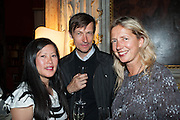 MATHIAS POLEDNA; IWONA BLAZWICK, Andrea Dibelius of the EMDASH Foundation hosts party to celebrate the Austrian Pavilion and artist Mathias Poledna at the Venice Biennale. Palazzo Barbaro, Venice. 30 May 2013<br /> <br /> <br /> Venice. Venice Bienalle. 28 May 2013