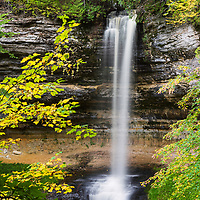 Munising Falls, located in Pictured Rocks National Lakeshore, Munising, MI