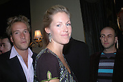 Ben Fogle and Marina Hunt. Cafe de Paris 80th birthday party. Coventry St. London 26 October 2005. October 2005. ONE TIME USE ONLY - DO NOT ARCHIVE © Copyright Photograph by Dafydd Jones 66 Stockwell Park Rd. London SW9 0DA Tel 020 7733 0108 www.dafjones.com