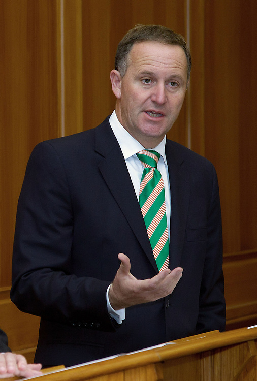 Prime Minister of New Zealand John Key speaks to the media about a coalition agreement at Parliament in Wellington, New Zealand, Monday, December 05, 2011. Credit: SNPA / Marty Melville