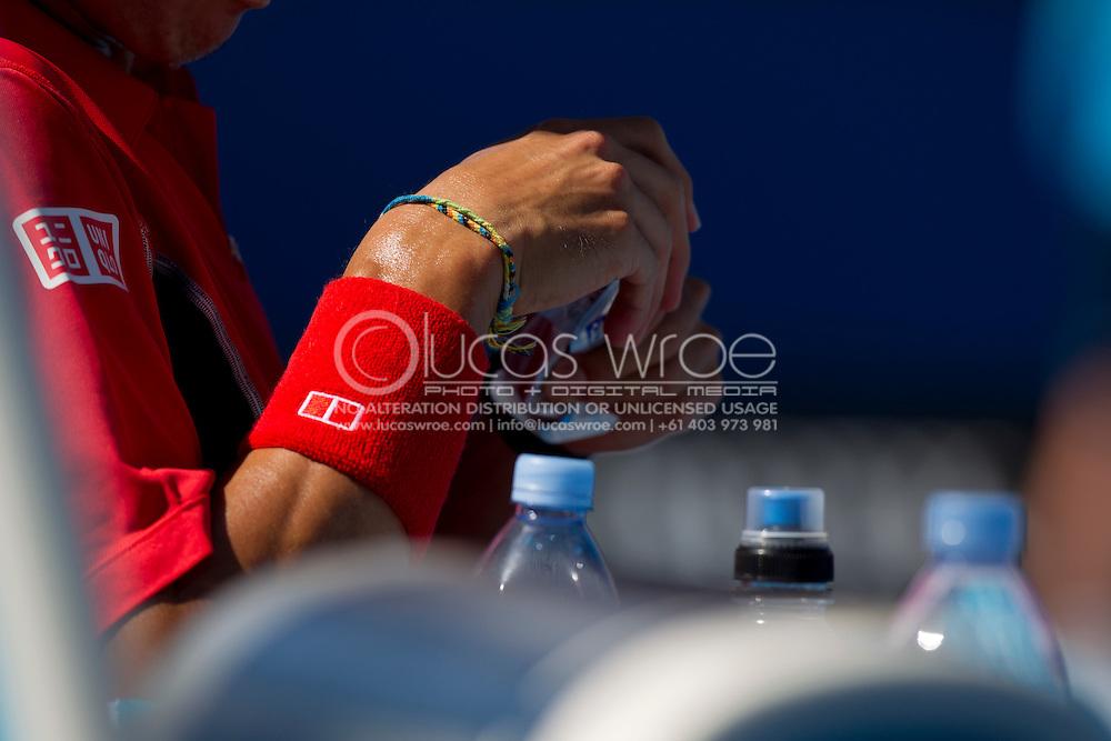 Kei Nishikori (JPN). 2012 Australian Open Tennis. Mens Singles. Second Round. Margaret Court Arena, Melbourne and Olympic Parks, Melbourne, Victoria, Australia. 19/01/2012. Photo By Lucas Wroe
