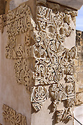 Casa de Ya?far (detail of the Portico); one of the city?s most remarkable buildings, identified hypothetically as the residence of the vizir of Caliph al-Hakam II (961-976), Madinat Az-Zahra, Córdoba, Andalusia, Spain; erected by Abd ar-Rahman III imitating the Abbasid caliphs in Baghdad in building a royal city just outside the city of Córdoba itself. Picture by Manuel Cohen