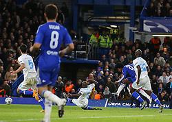 Willian ( 2nd R ) of Chelsea score to make it 2-0 - Mandatory byline: Paul Terry/JMP - 09/12/2015 - Football - Stamford Bridge - London, England - Chelsea v FC Porto - Champions League - Group G