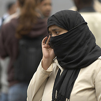 Muslim woman wearing niqab<br />