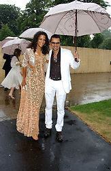 Actress and model VERONICA WEBB and GERRY DE VOX at the annual Serpentine Gallery Summer Party co-hosted by Jimmy Choo shoes held at the Serpentine Gallery, Kensington Gardens, London on 30th June 2005.<br /><br />NON EXCLUSIVE - WORLD RIGHTS