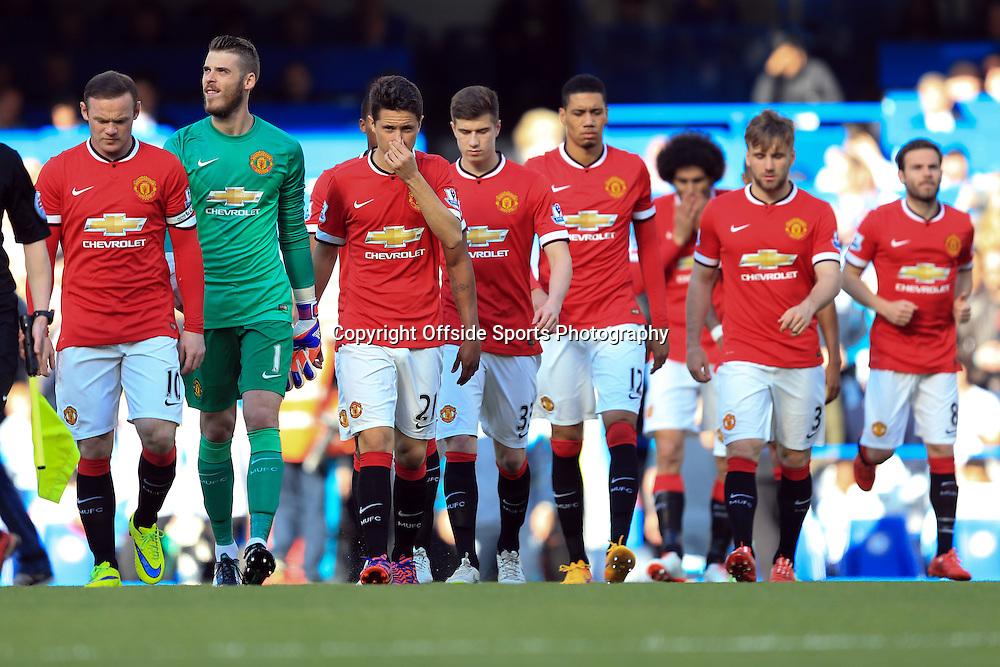 18 April 2015 - Barclays Premier League - Chelsea v Manchester United - The Manchester United squad - Photo: Marc Atkins / Offside.