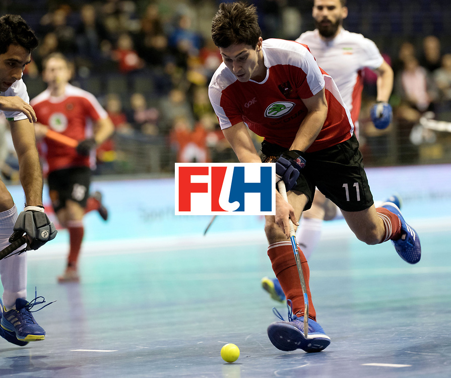 BERLIN - Indoor Hockey World Cup<br /> Men: Iran - Austria<br /> foto: Patrick Schmidt.<br /> WORLDSPORTPICS COPYRIGHT FRANK UIJLENBROEK