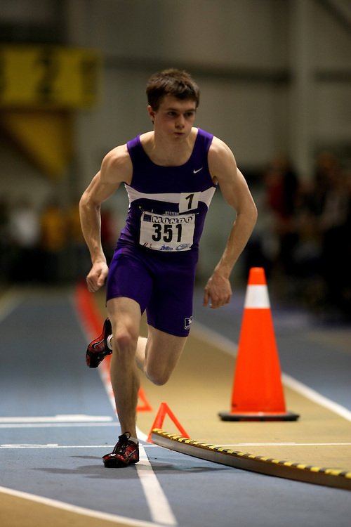 Windsor, Ontario ---14/03/09--- Scott Leitch of  the University of Western Ontario competes in the 600m Final at the CIS track and field championships in Windsor, Ontario, March 14, 2009..Sean Burges Mundo Sport Images