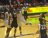 "Mississippi's Pa'Sonna Hope (15), Vanderbilt's Tiffany Clarke (34), and Mississippi's LaTosha Laws (23) go for a rebound at the C.M. ""Tad"" Smith Coliseum in Oxford, Miss. on Sunday, January 2, 2011. (AP Photo/Oxford Eagle, Bruce Newman)"