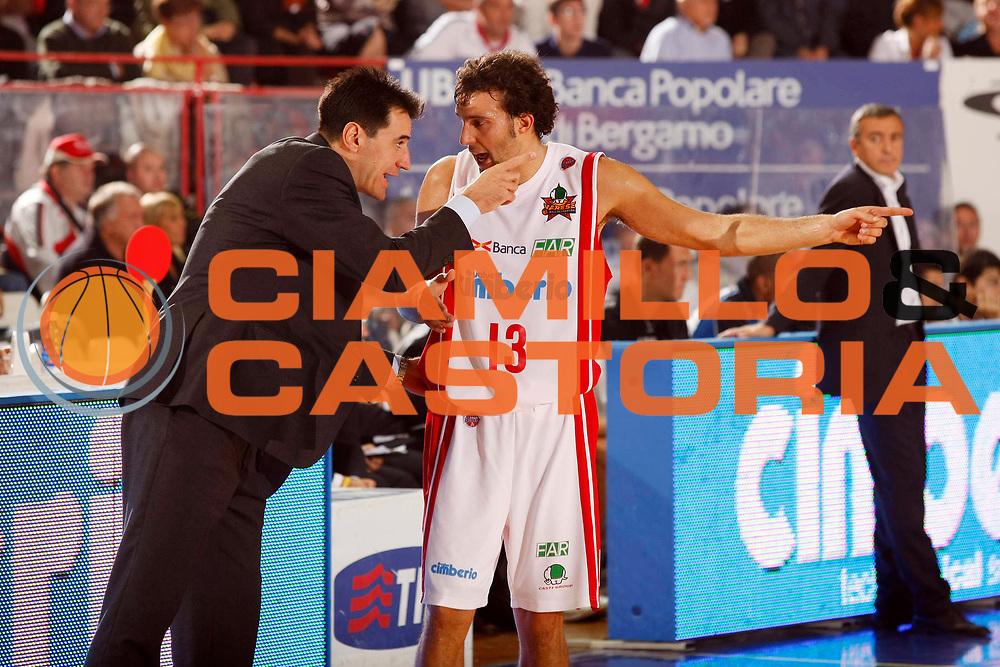DESCRIZIONE : Varese Lega A1 2007-08 Cimberio Varese Solsonica Rieti<br /> GIOCATORE : Francesco Vescovi Giorgio Boscagin<br /> SQUADRA : Cimberio Varese<br /> EVENTO : Campionato Lega A1 2007-2008<br /> GARA : Cimberio Varese Solsonica Rieti<br /> DATA : 14/10/2007<br /> CATEGORIA : Ritratto<br /> SPORT : Pallacanestro<br /> AUTORE : Agenzia Ciamillo-Castoria/G.Cottini